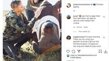 Princess-Charlene-stays-in-South-Africa-to-care-for-rhinos